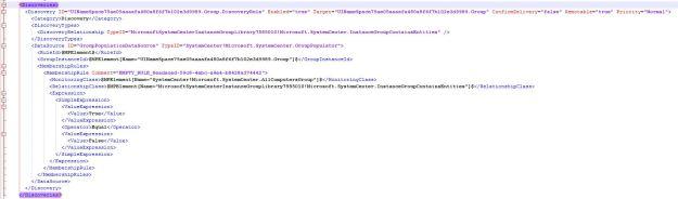 Default XML